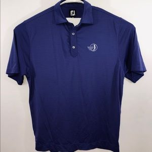 FootJoy Men's Purple Golf Polo Shirt Striped Sz M